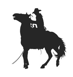 Cowboy riding a horseback vector