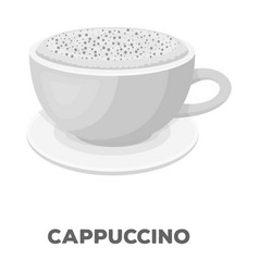 cup of cappuccinodifferent types of coffee single vector image