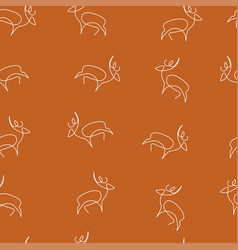 deer pattern seamless color vector image