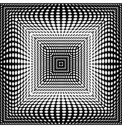 Design monochrome square dots background vector