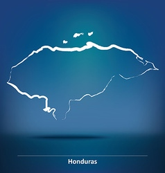 Doodle Map of Honduras vector image