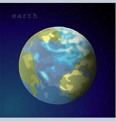 Earth sphere globe on dark blue starry sky vector
