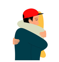 embraces a loving coupleembraces man and vector image