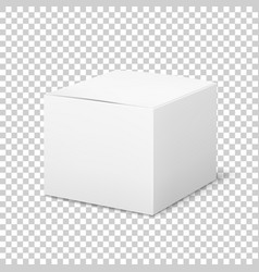 empty white box cardboard cubic cosmetic box vector image