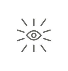 eye symbol icon spiritual concept vector image