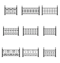 Fence icons set vector