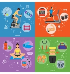 Fitness and Gym Banners vector