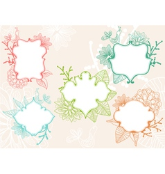 floral labels vector image