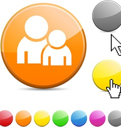 Forum glossy button vector image