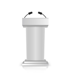 gray stage stand or debate podium vector image