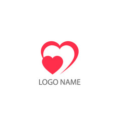 heart logo health protection logo in form of vector image