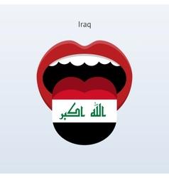 Iraq language Abstract human tongue vector