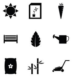 lawn icon set vector image