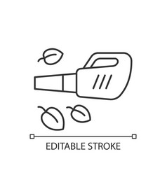 Leaf blower linear icon vector