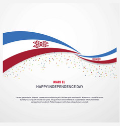 Mari-el happy independence day background vector