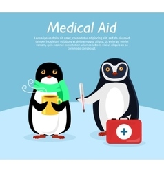 Medical aid conceptual flat stye banner vector