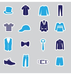 Mens clothing stickers eps10 vector