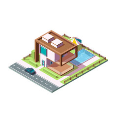 modern private house luxury building residential vector image