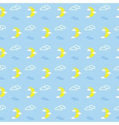 Moon and Clouds Pattern vector image