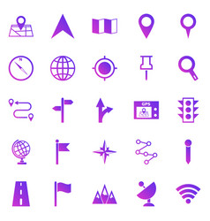navigation gradient icons on white background vector image