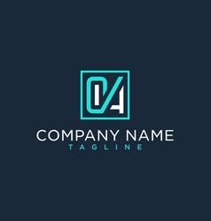 Oa ao initial logo luxury design inspiration vector