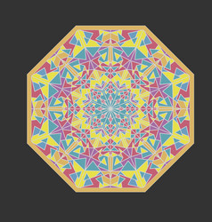 Octagonal mosaic geometric patterns kaleidoscope vector