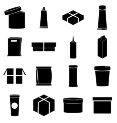 Packaging icons set simple style vector image