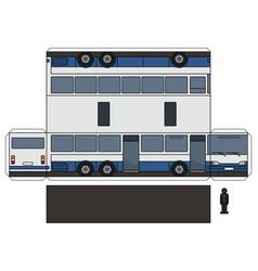 paper model a long bus vector image