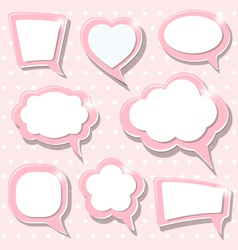 Pink frames vector image