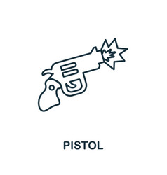 Pistol icon simple element from police collection vector