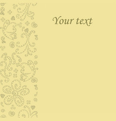 postcard greeting card place for your text vector image