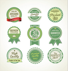 quality retro badge collection 3 vector image