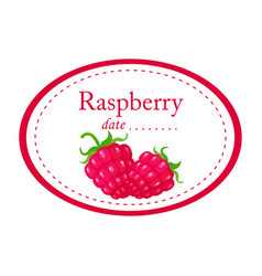 raspberry label disign isolated on white vector image