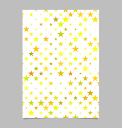 Repeating star pattern brochure template vector