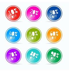 Sale circles vector
