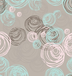 Scribbled circles overlapping vector