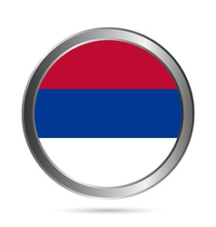 Serbia flag button vector