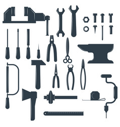 Set locksmith tools isolated on white vector