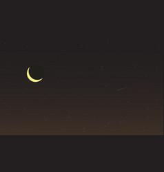 Starry night sky template vector
