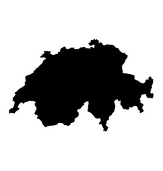 Switzerland island map silhouette vector