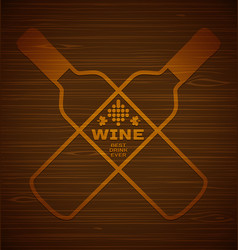 template with wine bottles vector image