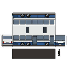 The paper model of a long bus vector