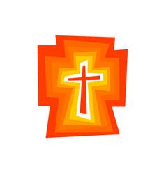 The shining cross of jesus christ vector