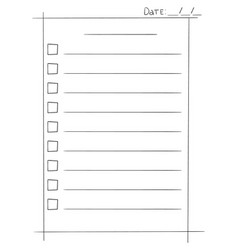 To do list in doodle sketch vector