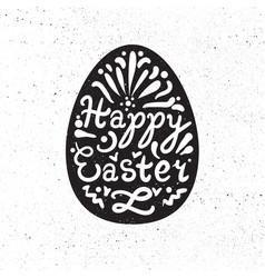 vintage happy easter lettering vector image