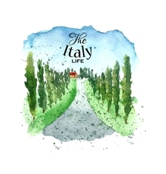 Watercolor Italy landscape vector image