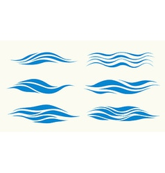 waves from element design vector image