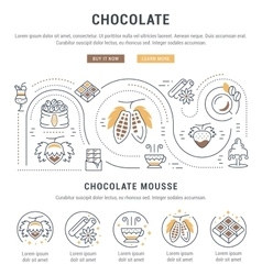 Website Banner and Landing Page Chocolate vector