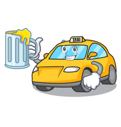 With juice taxi character mascot style vector