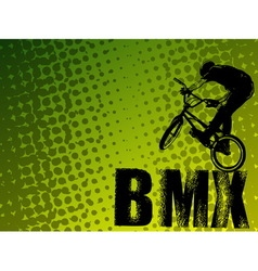 bmx stunt cyclist vector image vector image